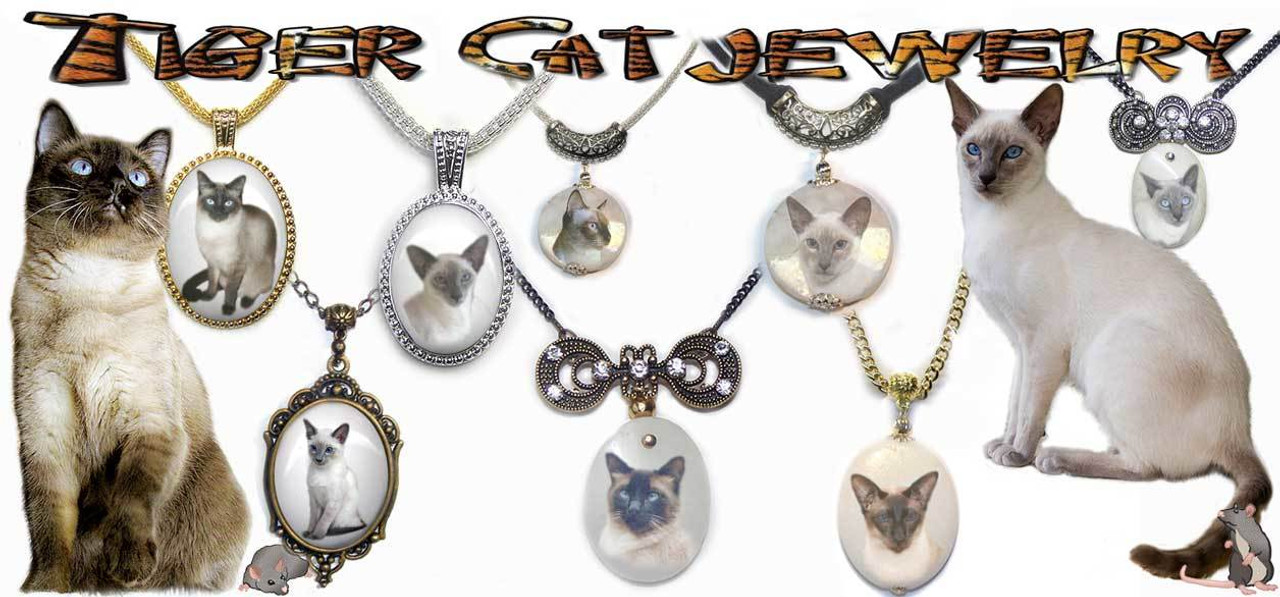 Siamese Cat Pendant Necklace