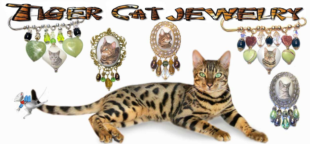 Bengal Cat Brooches