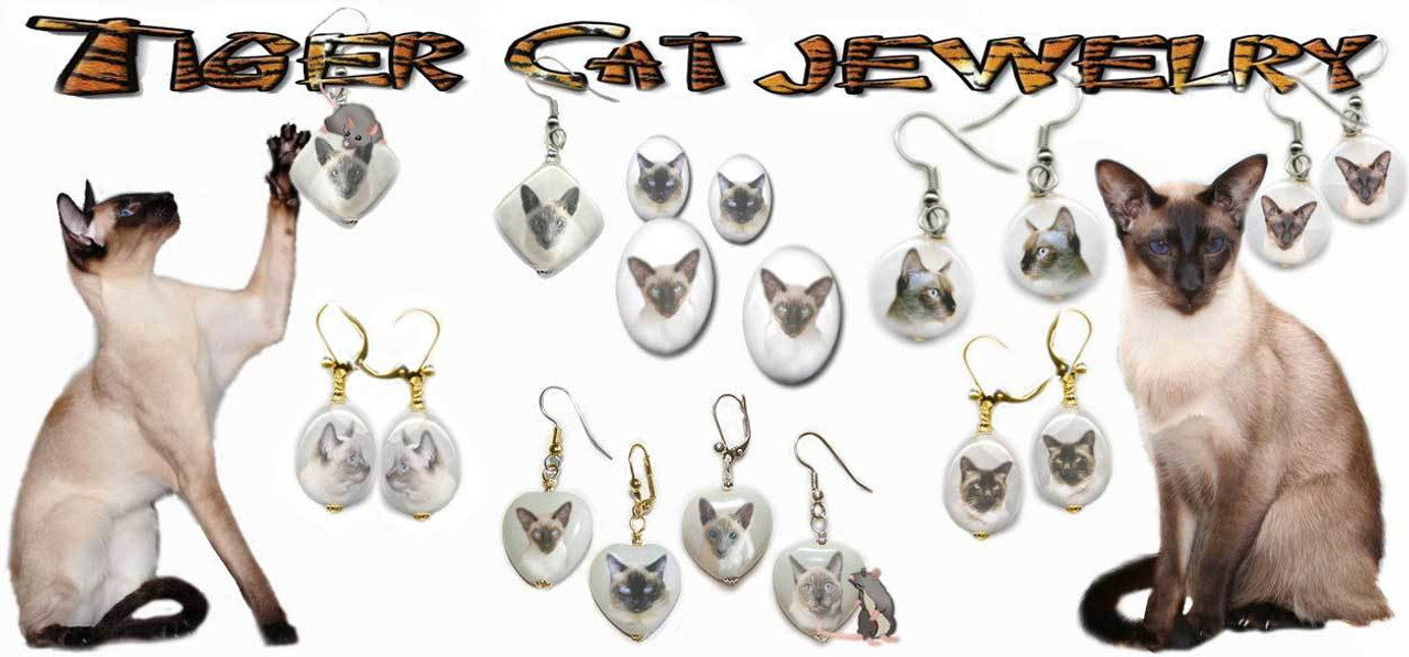 Siamese Cat Earrings
