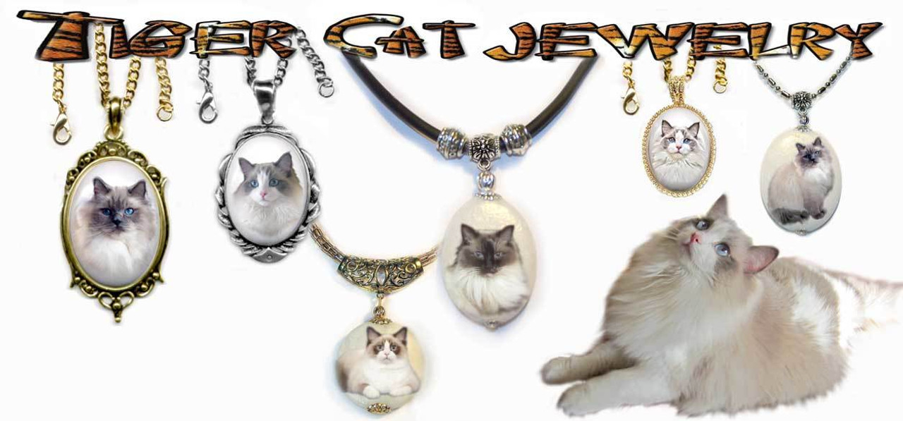 Ragdoll Cat Pendant Necklace