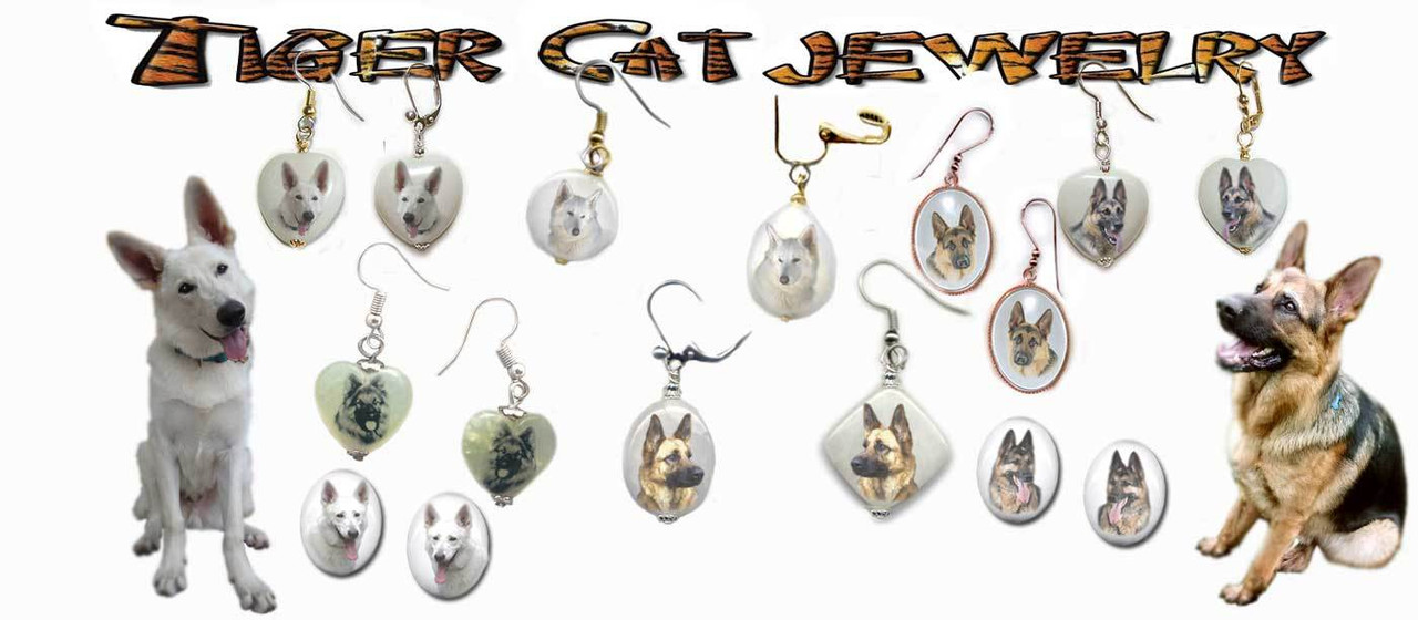German Shepherd Dog Earrings