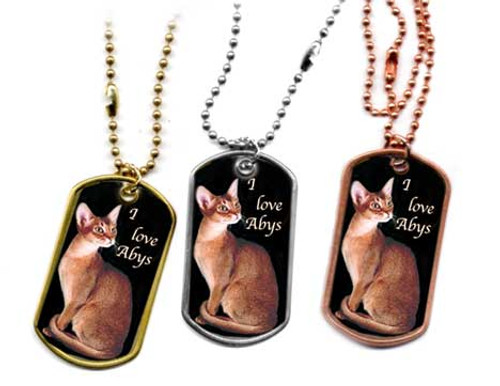 Abyssinian Dog Tag Necklace