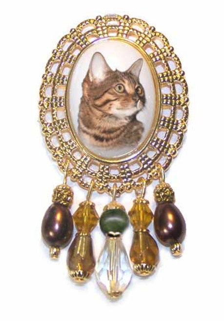 Bengal  Gemstone Crystal Brooch