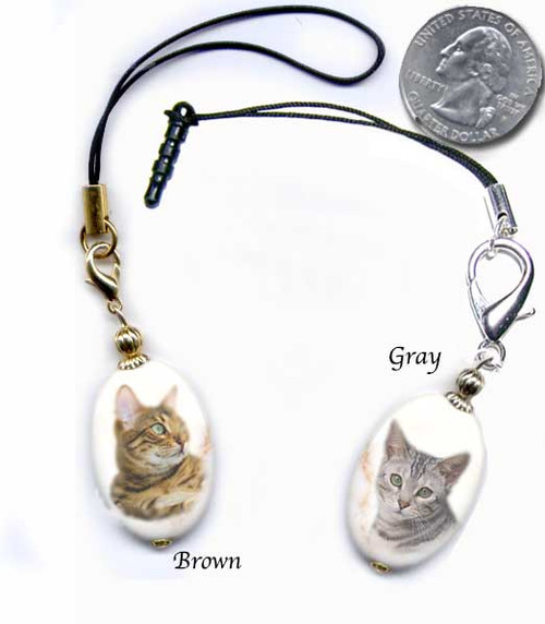 Bengal Cat Breed Lanyard and cell phone dust plug