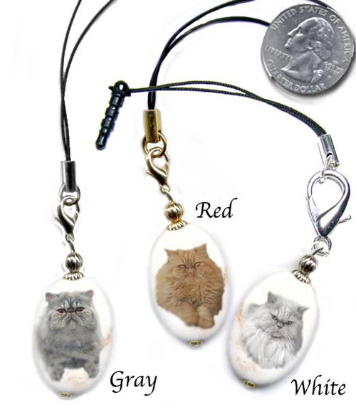 Persian Cat Breed Lanyard and cell phone dust plug