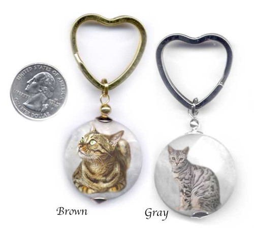Bengal Cat Photo key ring.