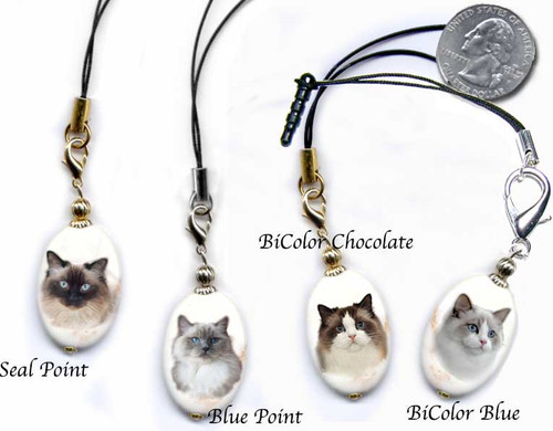 Ragdoll cat lanyard or cell phone dust plug