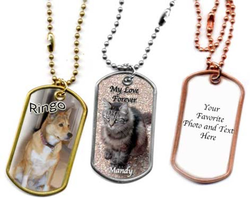 Pet Memorial Dog Tag Necklace