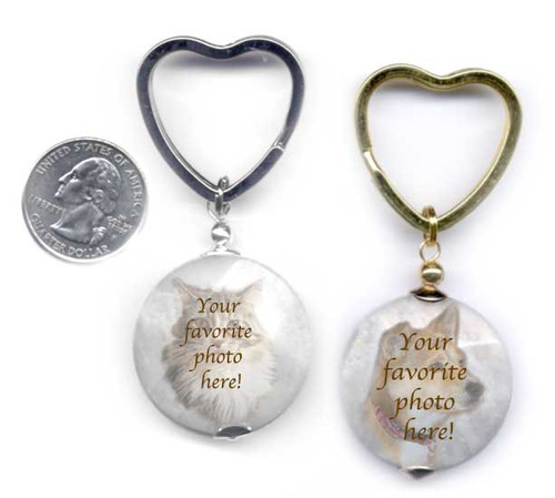 Pet Memorial photo key ring