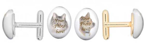 Pet Memorial gemstone cuff links