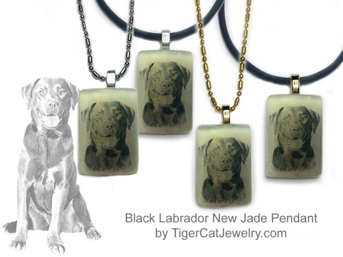 $16.99 Labrador Retriever Dog sketch is featured on new jade pendant necklace. Choose silver or gold trim Black or Yellow Lab. Matching Labrador Retriever earrings available. #LabradorRetrieverDog#LabradorRetrieverJewelry#LabradorRetrieverNecklace#LabradorRetrieverPendant#BlackLabdogpendantnecklace#YellowLabdogpendantnecklace