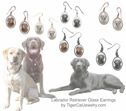 $16.99 Labrador Retriever Dog is featured on glass domed cabochon earrings in black, chocolate or yellow. 3 photos, 4 colors. Pierced or non-pierced. Matching Pendants available#LabradorRetrieverDog#LabradorRetrieverJewelry#LabradorRetrieverEarrings#YellowLabEarrings#BlackLabEarrings#ChocolateLabEarrings