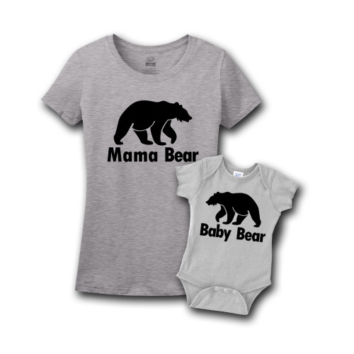 Mommy & Me Gray Set - Mama/Baby Bear