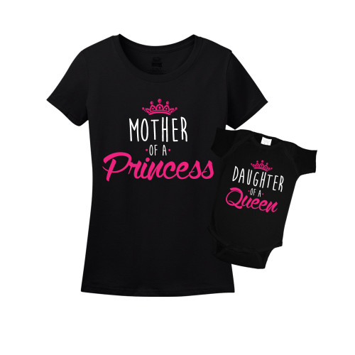 Mommy & Me Black Set - Queen/Princess