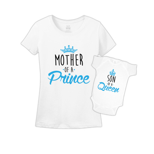 Mommy & Me White Set - Queen/Prince