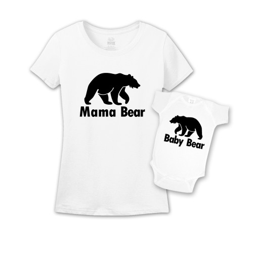 Mommy & Me White Set - Mama/Baby Bear