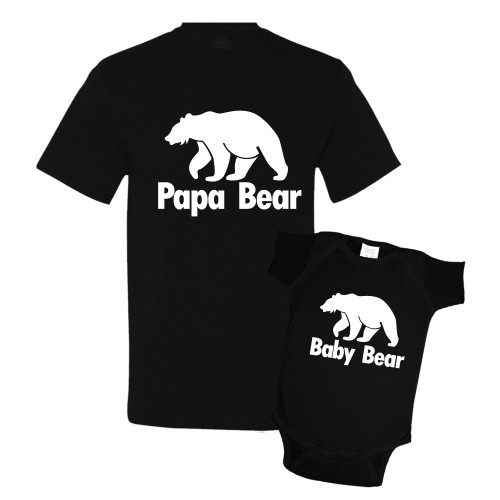 Daddy & Me Black Set - Papa/Baby Bear