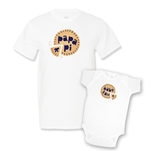 Daddy & Me White Set - Berry Pi and Tau