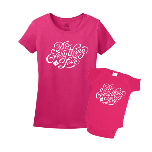 Mommy & Me Pink Set - Love
