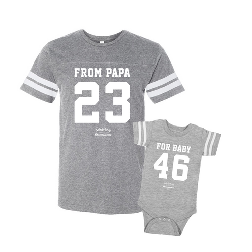 Daddy & Me Gray Set - Chromosomes