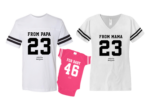 Dad & Mom & Me White - Pink Set - Chromosomes