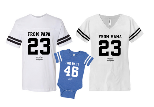 Dad & Mom & Me White - Blue Set - Chromosomes