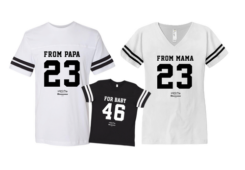 Dad & Mom & Me White - Black Set - Chromosomes
