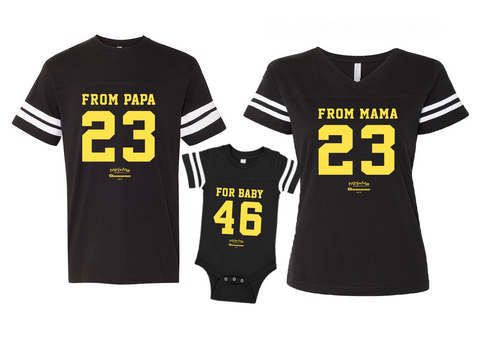 Dad & Mom & Me Black/Yellow Set - Chromosomes