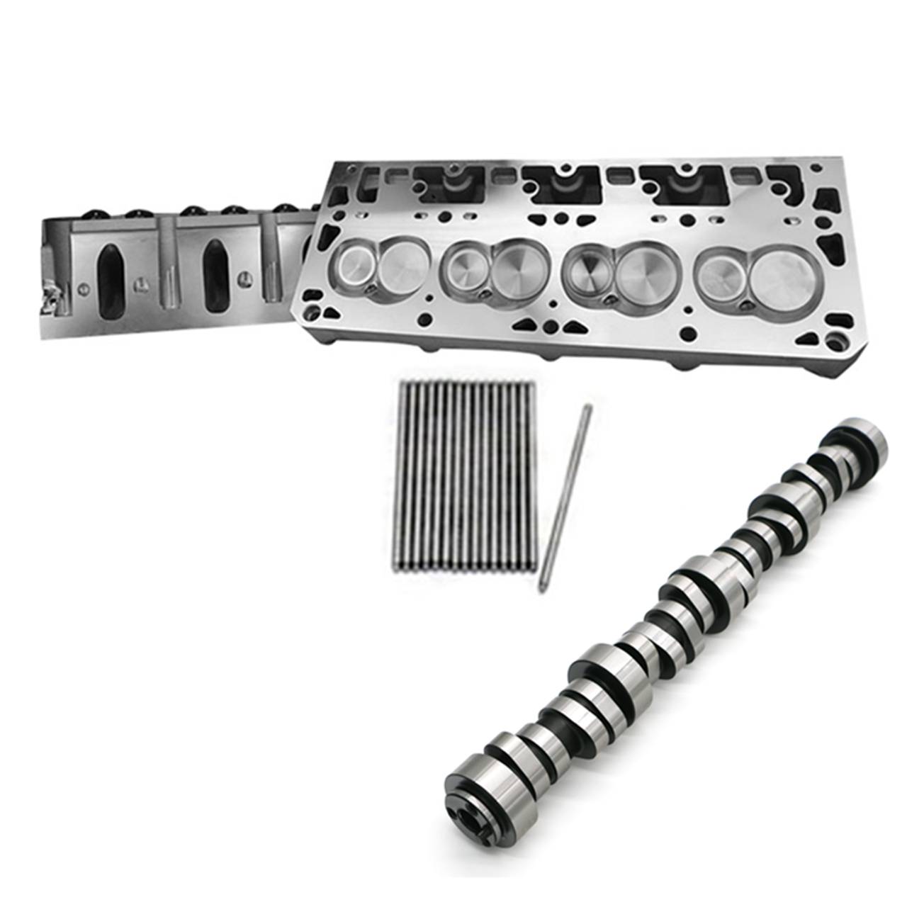 """PRC 4.00+"""" Bore Cathedral Port 15 Degree 237cc  Heads & TSP Cam Package 