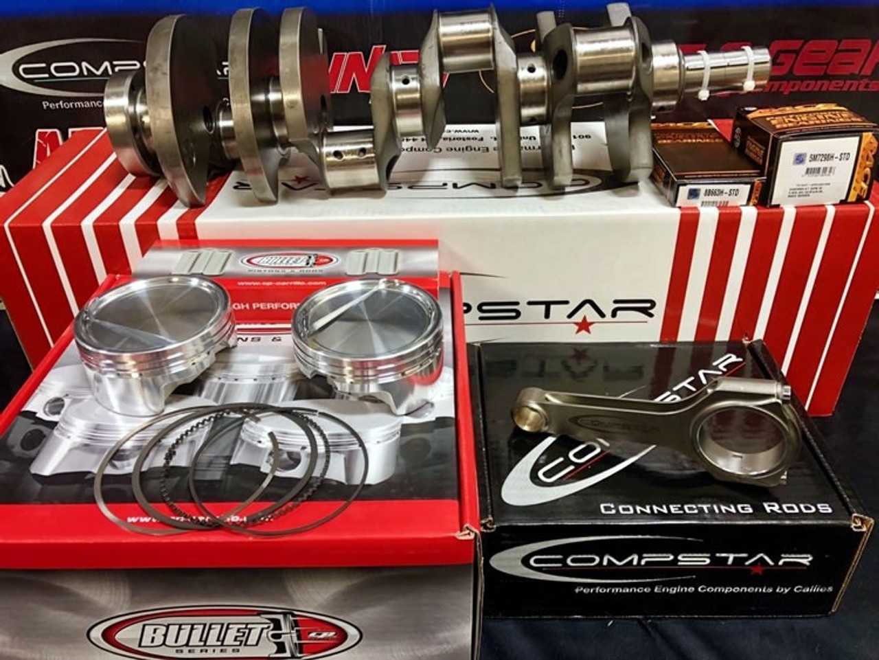 427ci 7.0L Stroker Kit   Callies 8ccw Crank / Compstar Rods   1,000 HP Rated