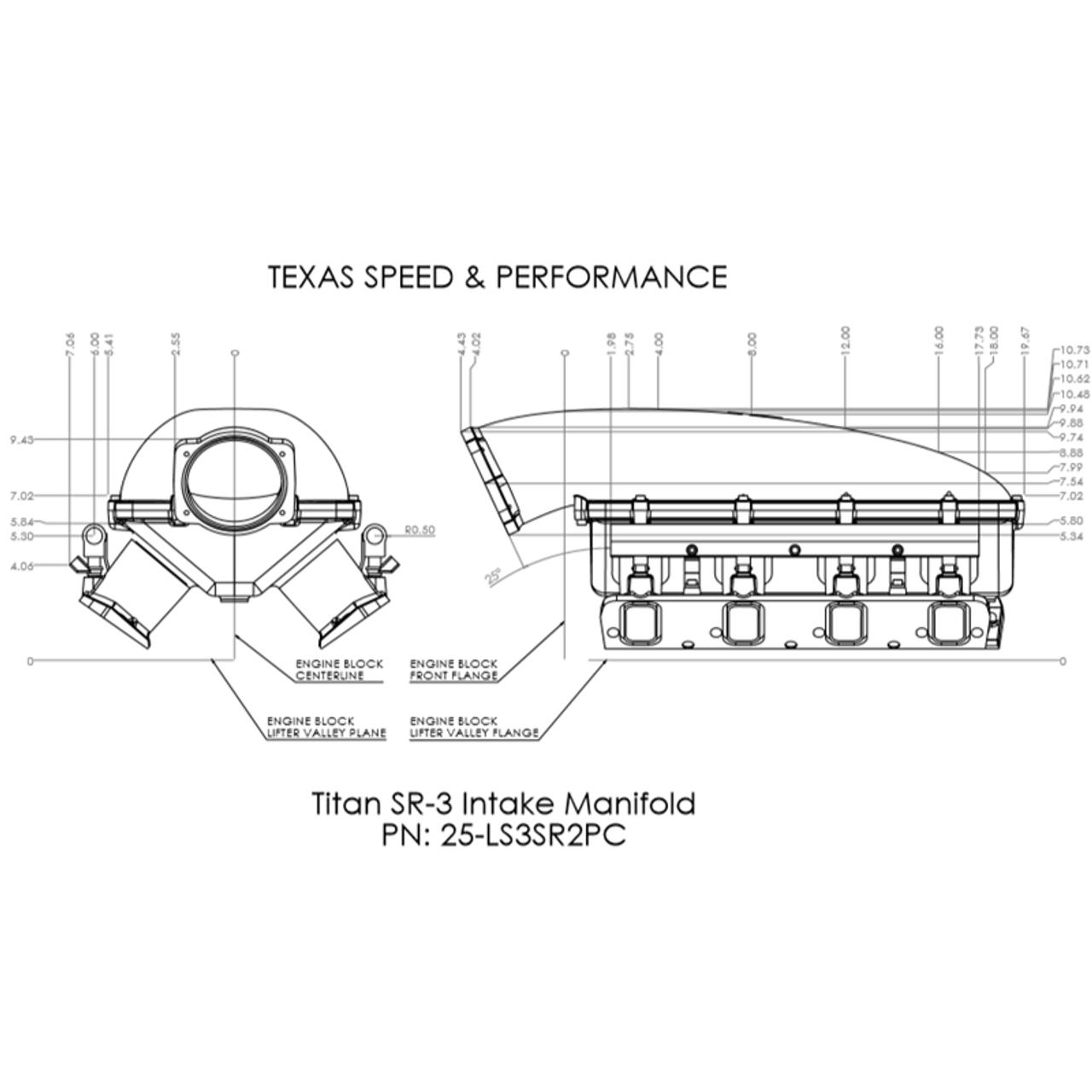 Texas Speed Titan SR-1 Intake Manifold | Cathedral Port