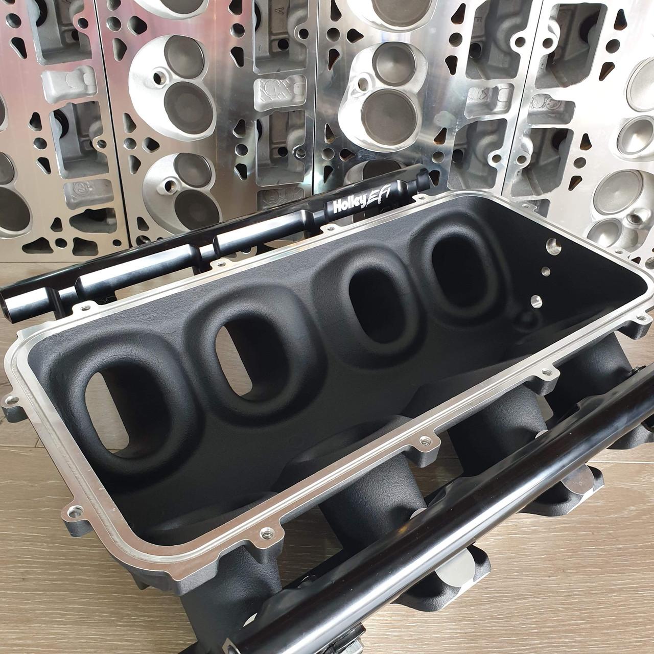 "** SALE PRICE 1 X LEFT!! ** LSX ""Carbon Electra"" Modular Lo-Ram Manifold | LS1/LS2/LS6 Cathedral Port"