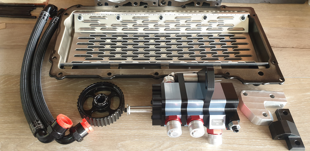 LSX 3 Stage Dry Sump Kit | Aluminum Pan | LS3 Offset