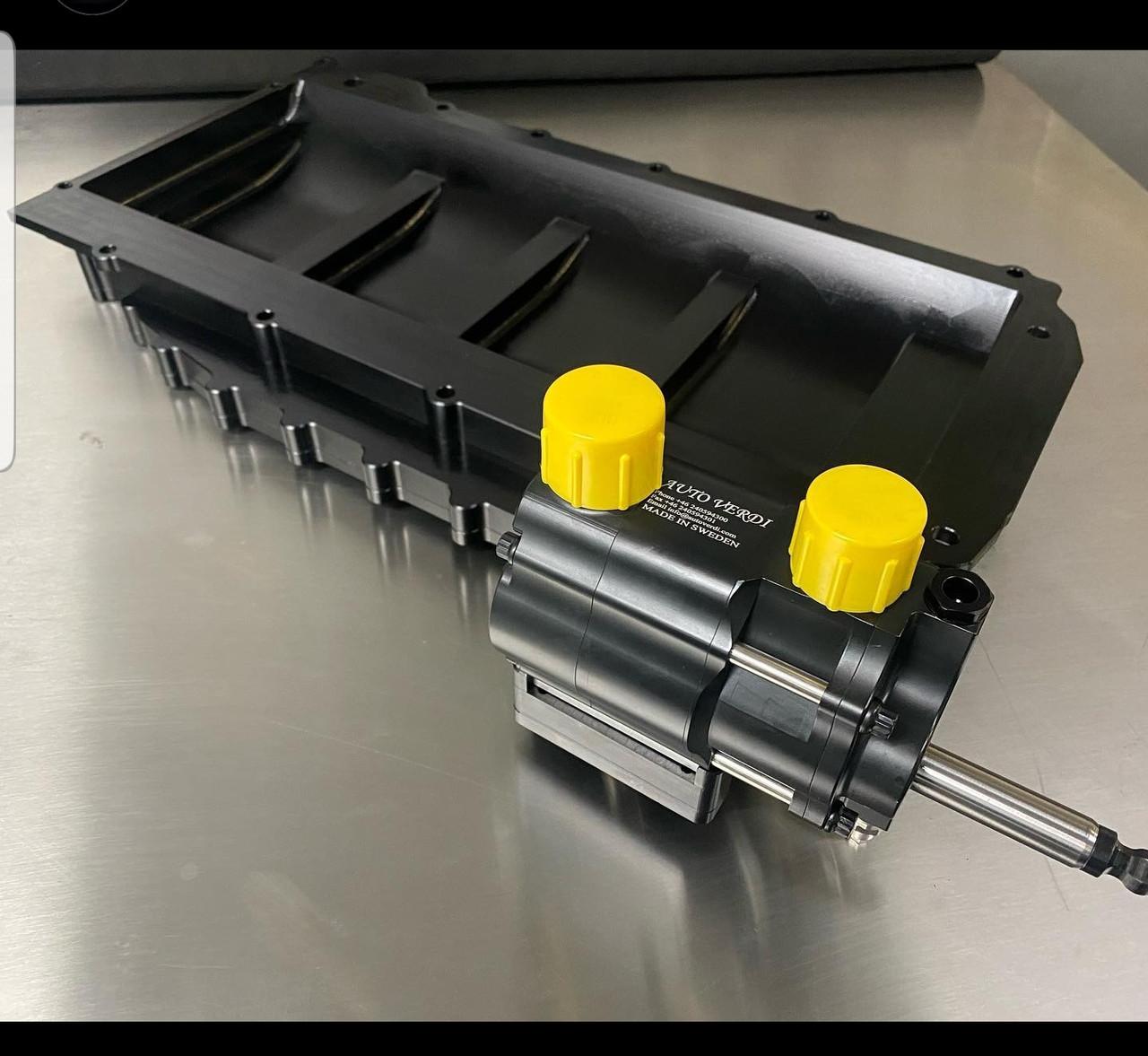 LSX 3 Stage Dry Sump Kit | Billet Pan | LS3 Offset