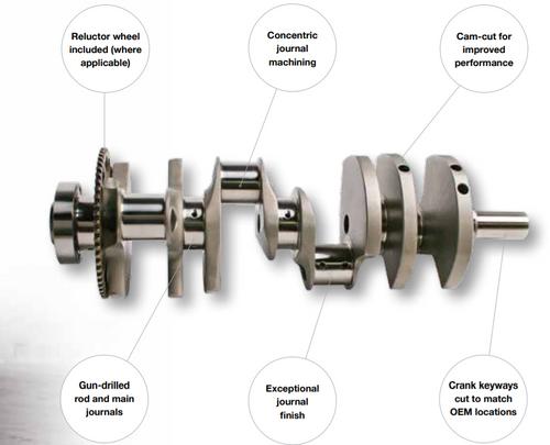 "K1 Technologies 4.125"" Crankshaft | 24x Reluctor"
