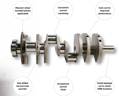 "K1 Technologies 4.250"" Crankshaft | 58x Reluctor"