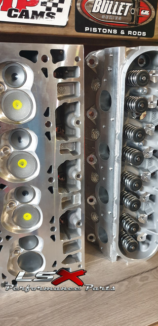 LSX LSA Cylinder Heads Assembled | Rectangle Port | 71cc / 280cc | GM Performance