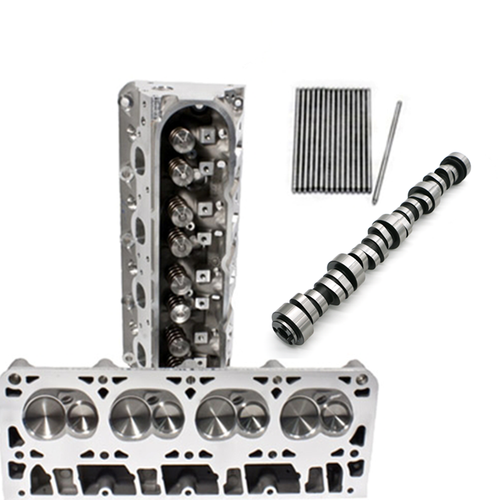 "PRC 4.00+"" Bore Cathedral Port 15 Degree 237cc  Heads & TSP Cam Package 