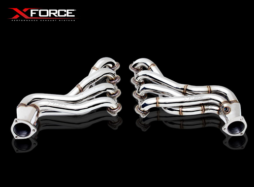"XForce VE-VF 1"" 5/8 4 into 1 Stainless Steel Headers with 100 Cell Cats"