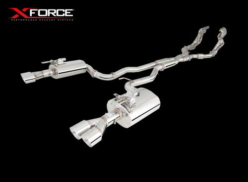 "XForce Gen-F - Gen-F2 Twin 3"" | Stainless Steel | 7 Series Cat Back (Hot Dog System)"