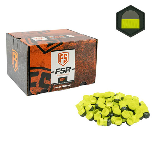 First Strike 600 Round - Smoke/Yellow - Yellow Fill - Limited Edition Patch