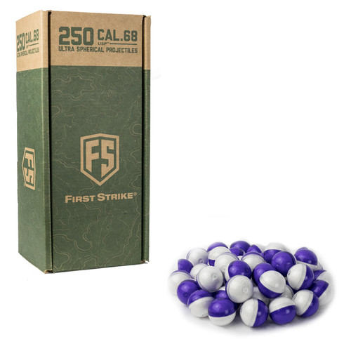 First Strike 250 Round Ultra Spherical Rounds - Purple/Clear