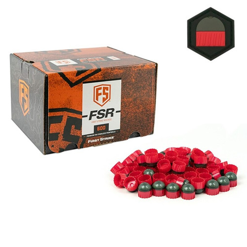 First Strike 600 Round - Smoke/Fire Red - Yellow Fill - Limited Edition Patch