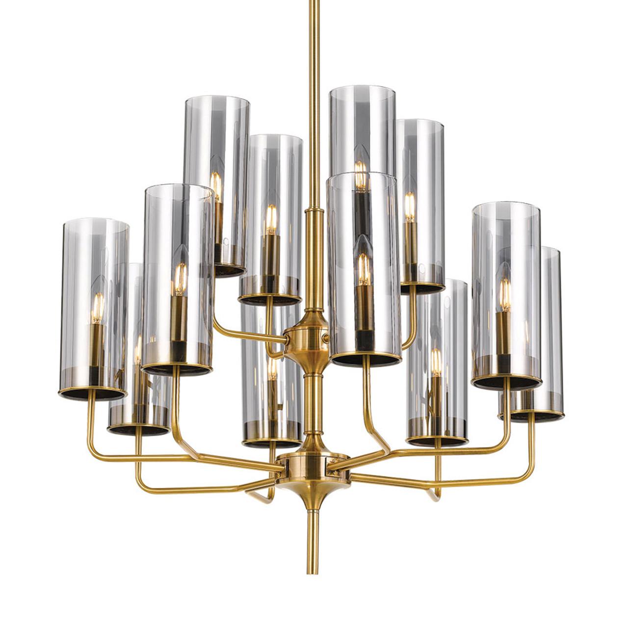 El Grande Gold Modern Chandelier Zest Lighting