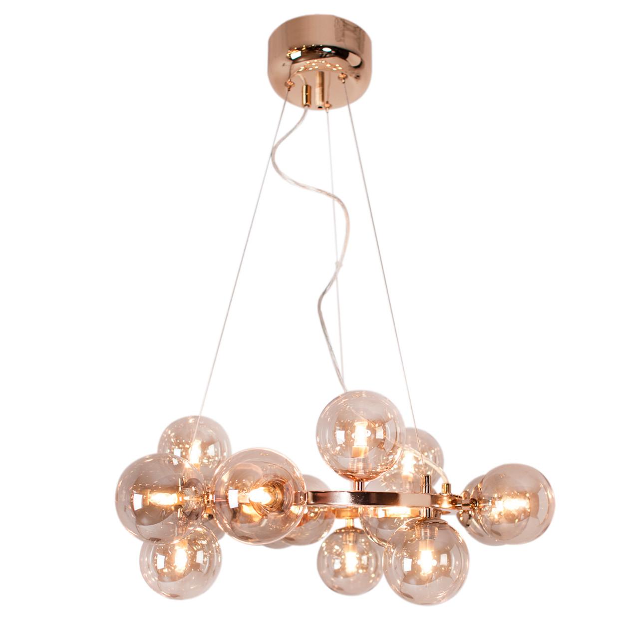 Splendor Round Rose Gold Modern Pendant Light Zest Lighting