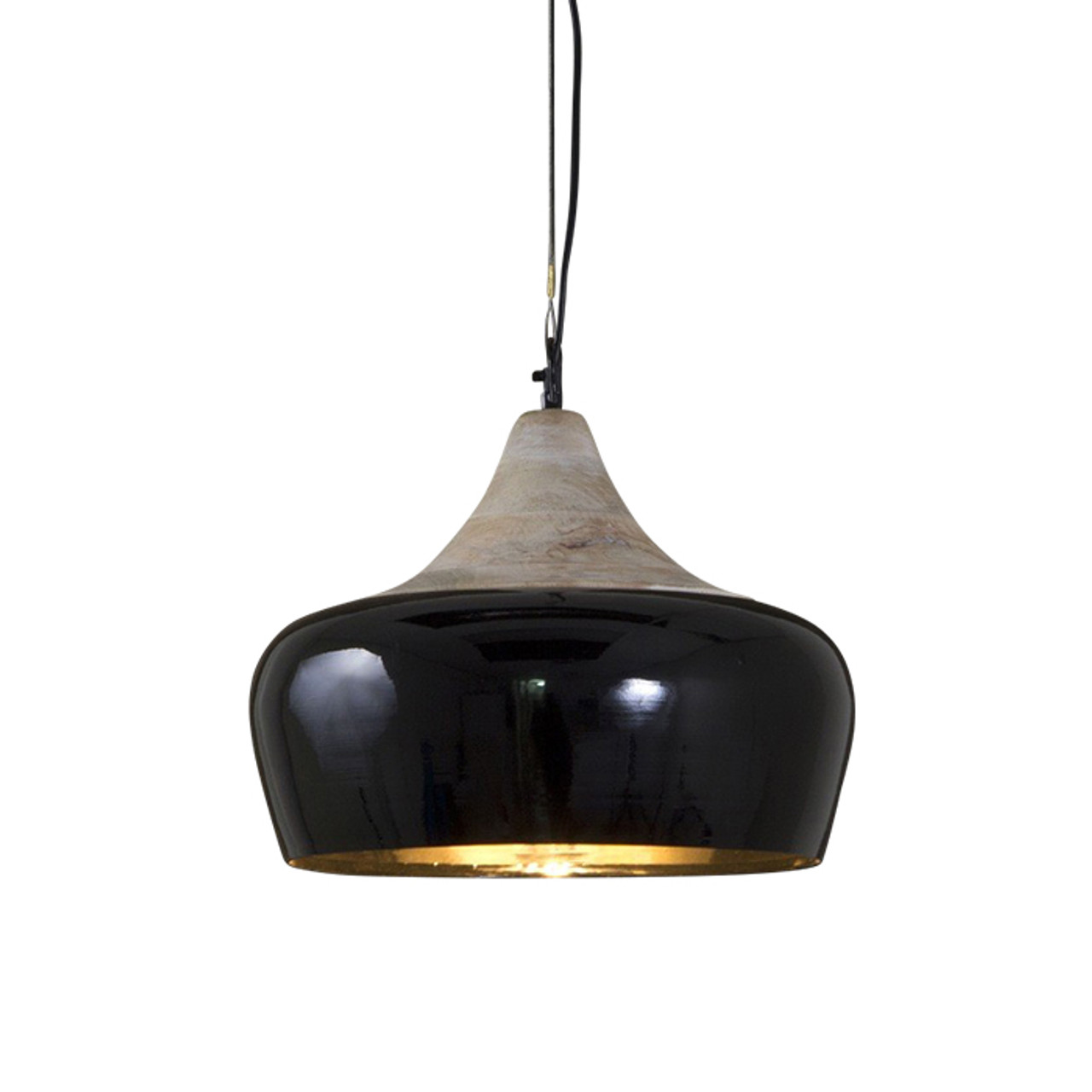 Milano Black Hanging Pendant Lamp Zest Lighting