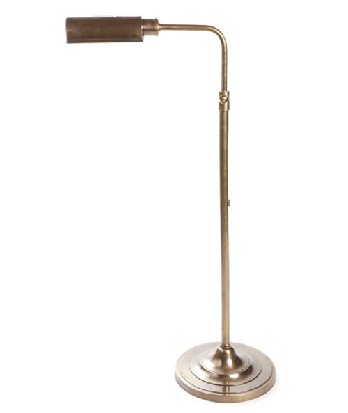Brooklyn Antique Brass Floor Lamp