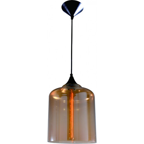 Replica Bell Jar Modern Pendant Lamp in Amber