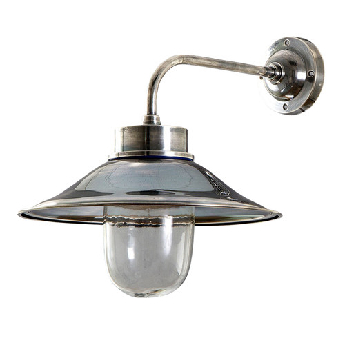 Sandhurst Antique Silver Wall Lamp