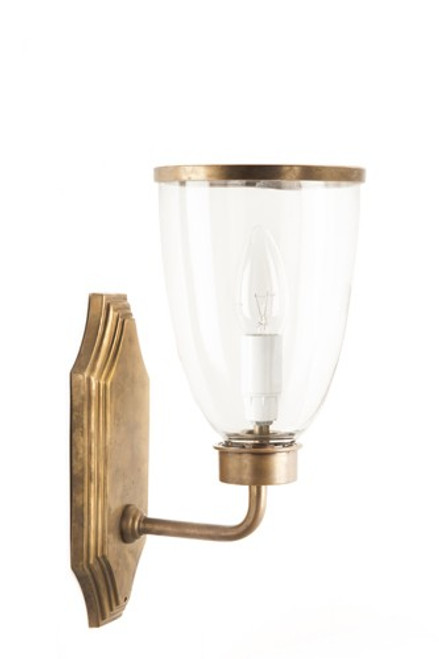 Westbrook Brass Glass Shade Wall Light